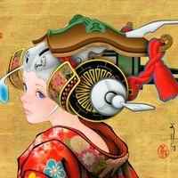 田村吉康(Tamura Yoshiyasu)笔下的艺伎美人