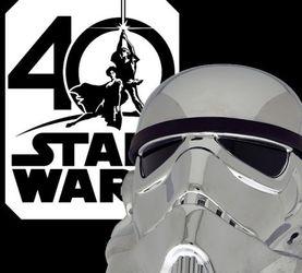 星战40周年 1:1 风暴兵头盔 电镀版