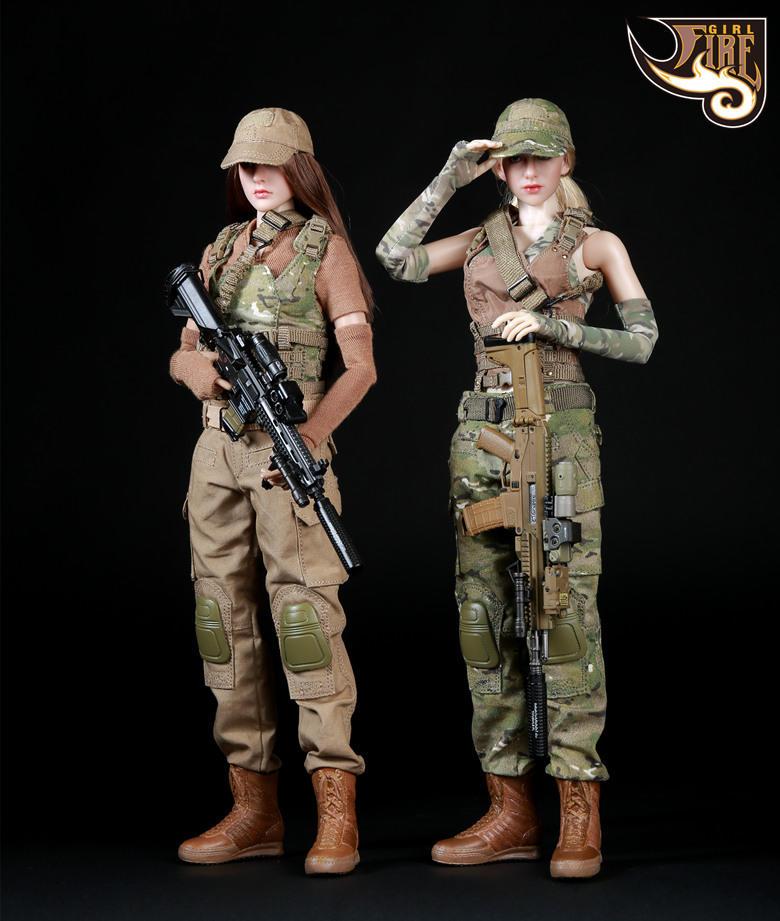 Really Really Cool Toys : Fire girl toys 战术女枪手 火系列 双人组套装 toys有品有趣