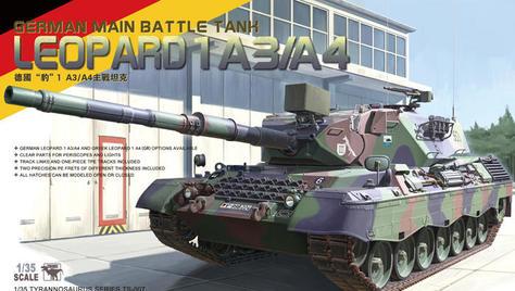"""MENG TS-007 1/35 德国""""豹""""1 A3/A4主战坦克"""