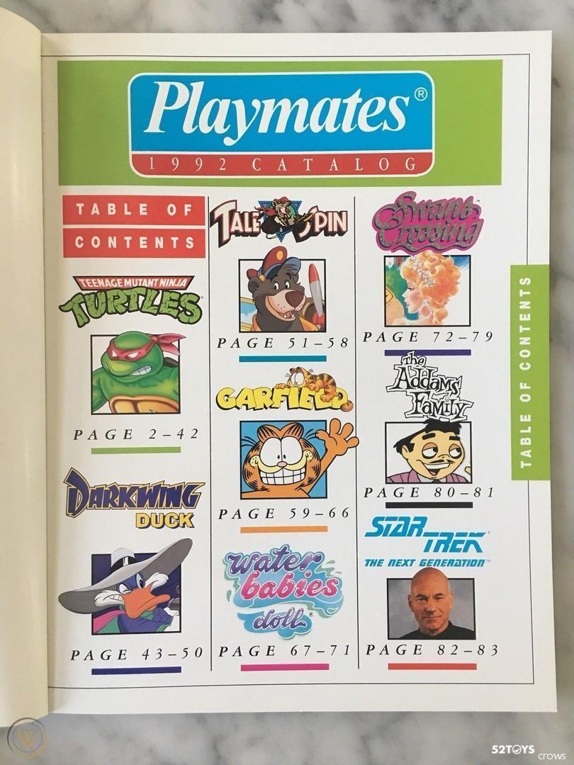 1992年 彩星的CATALOG上出现了通过美士达拿到授权的星际迷航系列玩具