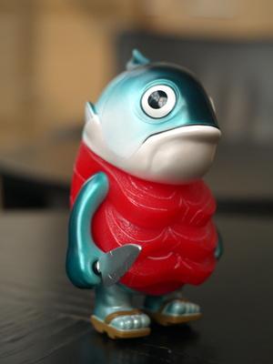 期待已久的Mamemoyashi水产的鲔鱼前辈终于到手了。典型的Sofubi包装,�...