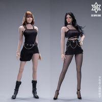 六芒星 酷女孩 短裙套装/格子裤/机能套装 12寸女人偶服饰套装前瞻