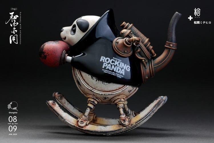 末那末匠丨松岡ミチヒロ《Rocking Panda(小)》