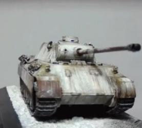 【模玩】ZVEZDA 红星 豹式 D型 坦克 1:72 模型评测