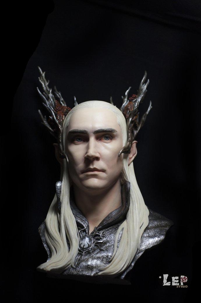 霍比特人-指环王-精灵王-瑟兰迪尔-雕像细节
