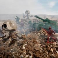 Brian McCarty借用玩具摄影讽刺战争的残酷!