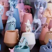 陶瓷上的濒危动物
