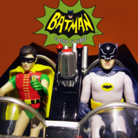 Funko蝙蝠侠66电视剧版3.75寸蝙蝠车和蝙蝠侠与罗宾
