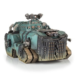 FW又出30k世界中的怪物了!乳齿象坦克登场!在《荷鲁斯反叛》中出现过的怪物运兵车,两层虚空盾的防护!贴吧里都惊叹,这玩意比一个猎犬型泰坦命都硬啊!图中官方涂装是30k时期的影月之狼战团,就是后来的荷鲁斯之子~不过FW出的东西历来价格也是硬~这辆乳齿象坦克300英镑~