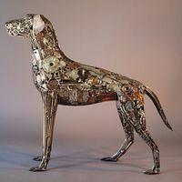 布莱恩·莫克用废弃金属制作令人难以置信的雕塑