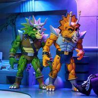 NECA忍者神龟 动画版 泰瑟兰顿恐龙 Zarax&Zork 7寸人偶 前瞻