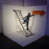 葡萄牙艺术家Odeith 独特的3D涂鸦作品欣赏
