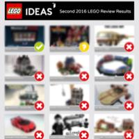 LEGO IDEAS 2016年第二季评选结果终于公布!