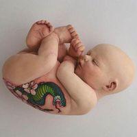 给婴儿身上纹身—黏土艺术家Ronit Baranga