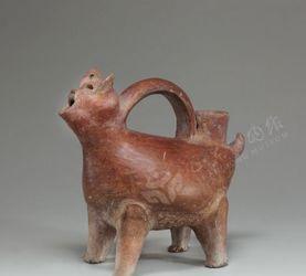 文物超活化素材-红陶兽形壶