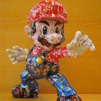 Makaon用回收的易拉罐创作艺术作品