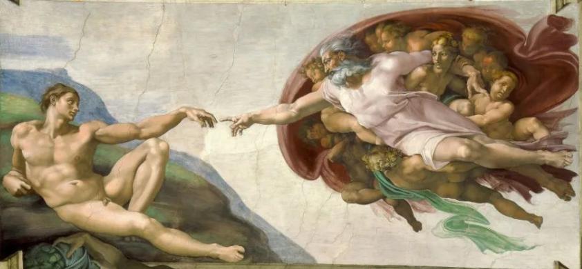 米开朗基罗《创造亚当》