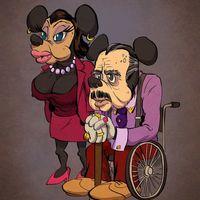 卡通人物也会慢慢变老