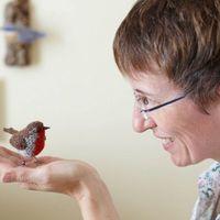 灵感源于热爱 英国手作师Jose Heroys的鸟类针织作品