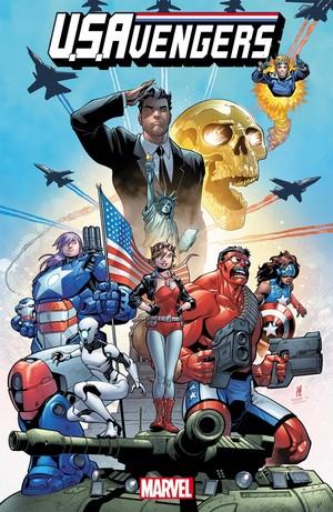 漫威为了给新上市的《美国复仇者(U.S.AVENGERS)》漫画造势,决定推...