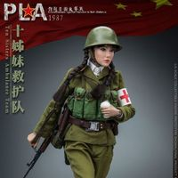 FLAGSET 1987对越反击战 PLA 十姊妹救护队女战士 12寸人偶前瞻