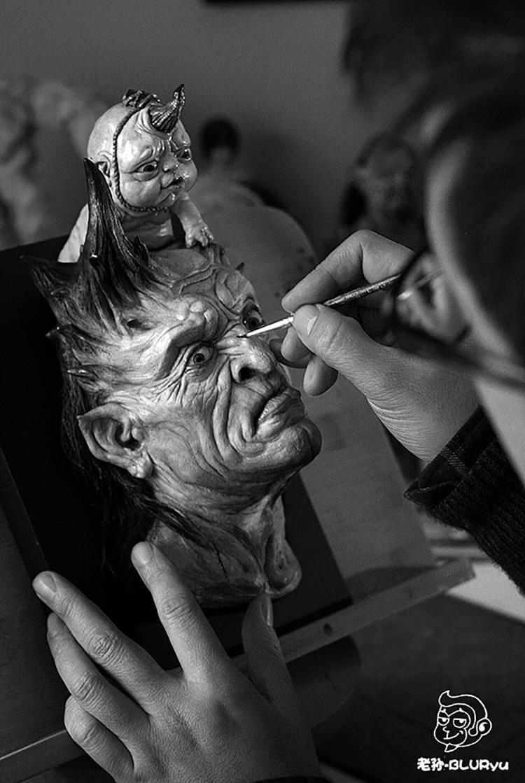 老孙的雕塑