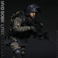 DAMTOYS 俄罗斯MVD SOBR LYNX/山猫特警部队 12寸兵人 前瞻
