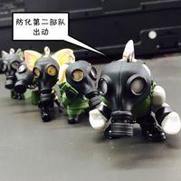TOMY T-ARTS 扭蛋 戴防毒面具的动物