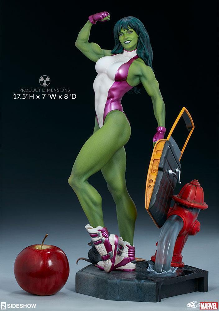 女绿巨人变身过程_Sideshow Marvel Comics 女绿巨人She-Hulk 1/5雕像前瞻-52TOYS有品有趣