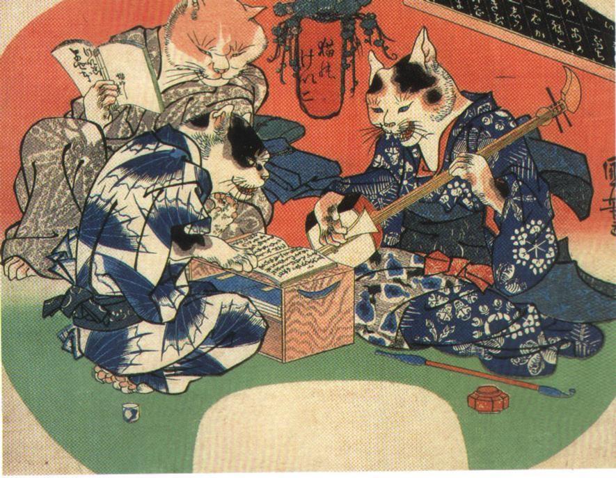 歌川国芳 拟人猫 作品