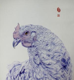 提前为鸡年画的贺图。